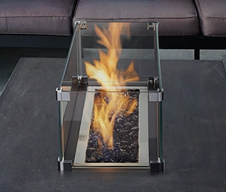 Image of optional wind shield for Plaza gas fire pit