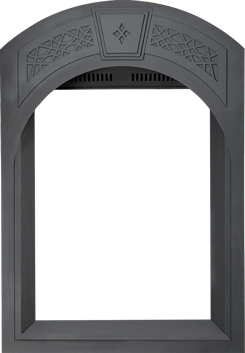 Image of Arched Black Heritage Surround with Safety Barrier AFK82-1SB for Park Avenue GD82TNT-PA