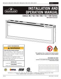Click image for Napoleon Entice Series Electric Fireplace Manual