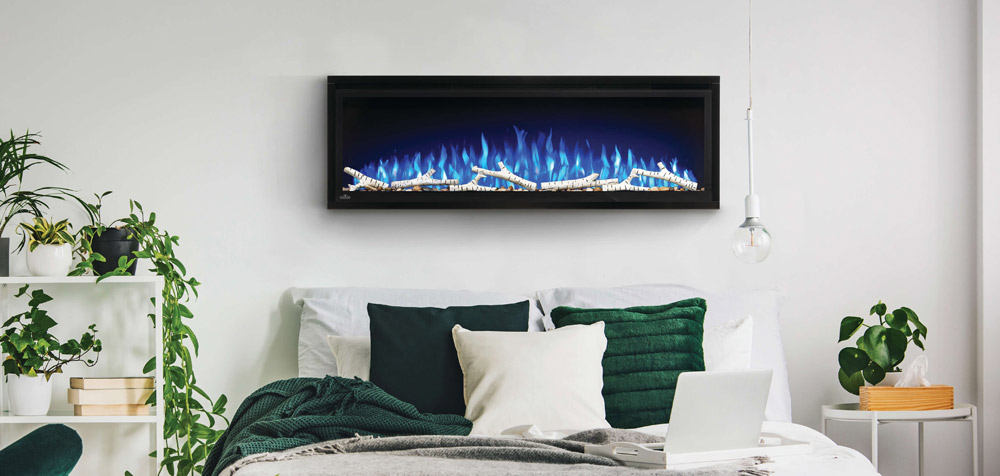 Image of Napoleon Entice 50 Electric Fireplace in bedroom
