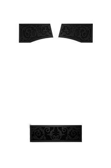 Image of Metallic Black Victorian Ornamental Insets VOIK for Napoleon Vittoria gas fireplace