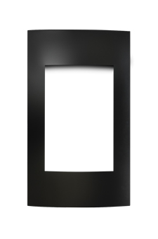 image of Contemporary Black Surround with Safety Barrier CFK19SB for Napoleon Vittoria gas fireplace