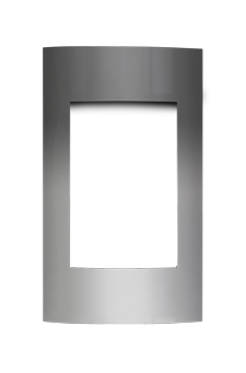 image of Contemporary Brushed Stainless Steel Surround with Safety Barrier CFS19SB for Napoleon Vittoria gas fireplace