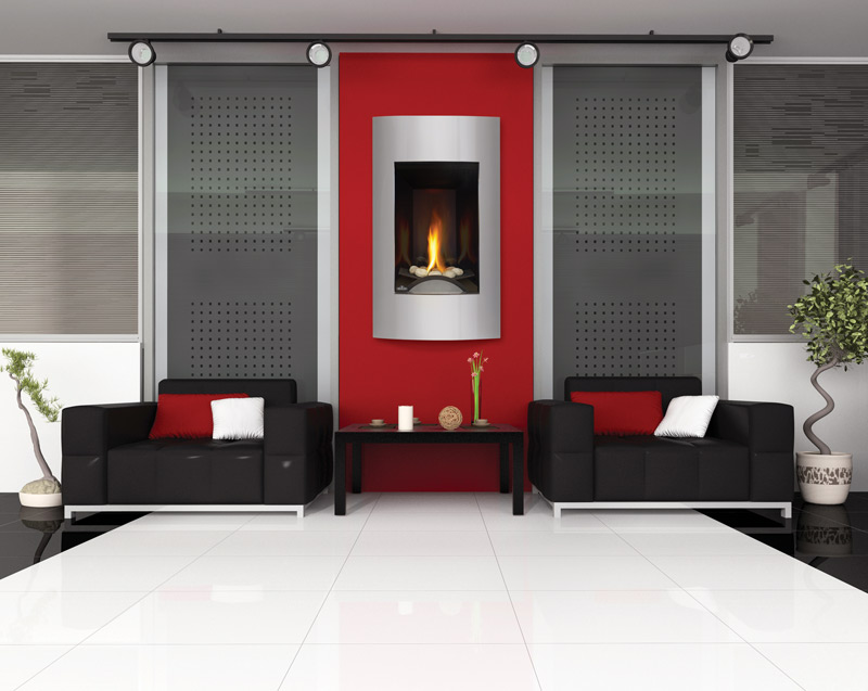Image of Napoleon Vittoria GD19 gas fireplace installed in living room