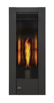 Napoleon Torch GT8 gas fireplace with Metallic Black Surround