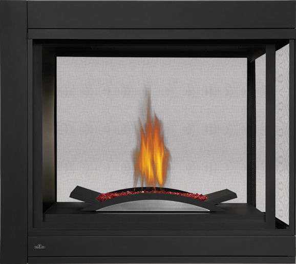 Click Image for more information Napoleon Ascent Multi-View BHD4 Three-sided Peninsula Model with Fire Cradle
