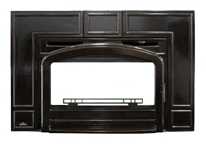 image of Napoleon EPI traditional Porcelain Majolica Brown cast iron surround