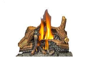 Image of PHAZER log set included with Napoleon Park Avenue GD82NT-PA direct vent gas fireplace
