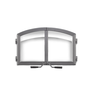 image of arched wrought iron double doors for Napoleon NZ3000H wood fireplace - H336H-WI