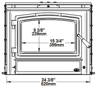 Osburn 1700 OB01705 wood insert front dimensions