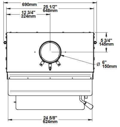 Osburn 1700 OB01705 wood insert top dimensions