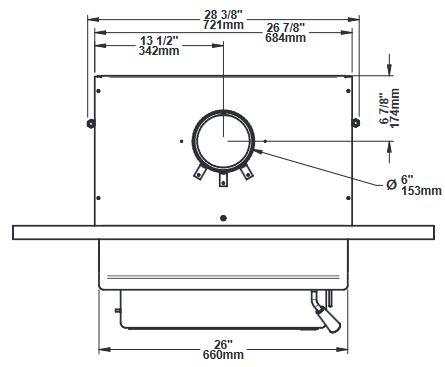 Osburn 2000 wood insert top dimensions