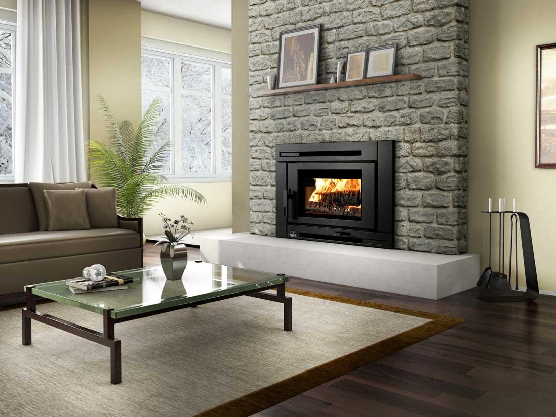 Osburn Matrix Wood Insert shown in living room