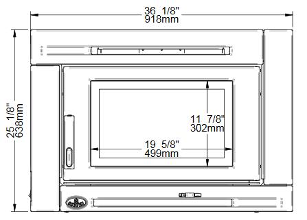 Osburn Matrix wood insert front view dimensions