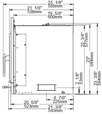 Osburn Matrix wood insert side view dimensions