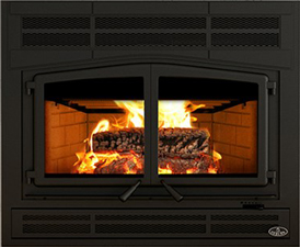 Click image for more information on Osburn Horizon wood fireplace