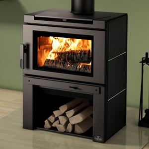 Osburn Matrix Wood Stove with Black Side Panels and Black Panel Top