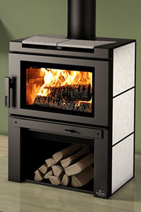 Click for more information on the Osburn Matrix wood stove
