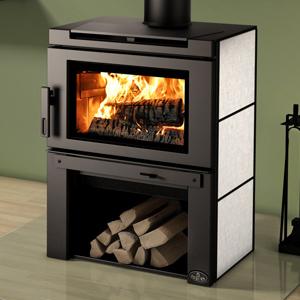 Osburn Matrix Wood Stove with Soapstone Side Panels and Black Panel Top
