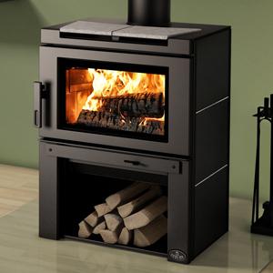 Osburn Matrix Wood Stove with Black Side Panels and Soapstone Panel Top