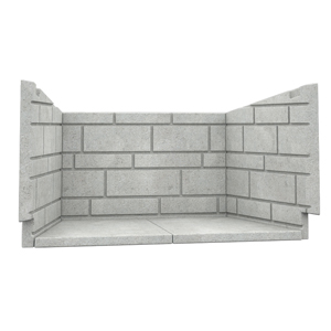 Osburn classic moulded refractory brick panels for wood fireplace