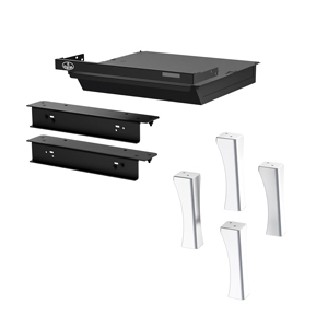 Osburn brushed nickel cast iron structural (straight) leg kit with ash drawer