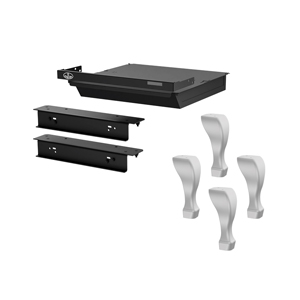 Osburn brushed nickel cast iron tradtitional leg kit with ash drawer and safety lid