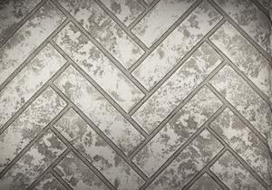 Glacier Herringbone Decorative Brick Panels