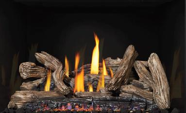 Optional driftwood log set