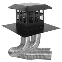 Co-linear kit with flex 3-inch by 35-feet with prairie cap