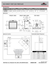 Click Napoleon Ascent Deep 42 specifications sheet