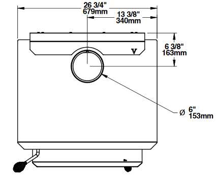 Ventis HES240 top dimensions diagram