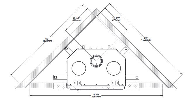 Ventis HE275CF corner installation diagram