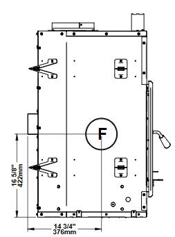 Ventis HE275CF left side dimensions diagram