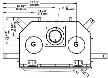 Ventis HE275CF top dimensions diagram