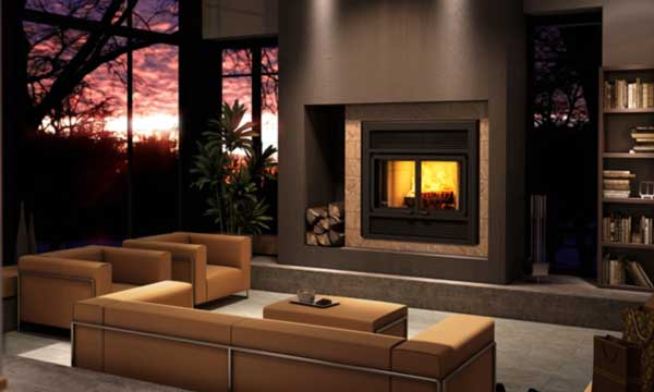 Ventis ME150 wood burning fireplace