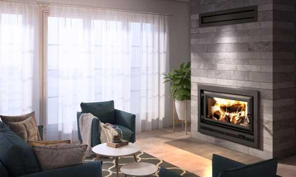 Ventis HE275CF wood burning fireplace