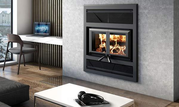 Ventis HE325 wood burning fireplace