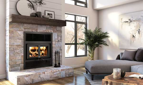 Click for more information on Osburn Everest II wood fireplace